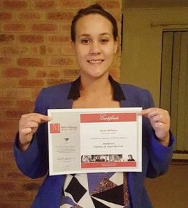 paralegal courses online law courses online sydney sarah williams diploma of legal services completed 2015
